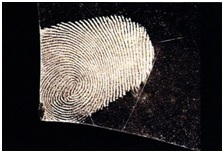Fingerprint on glass